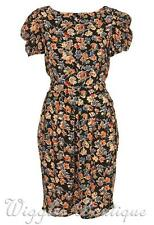 Topshop Premium Vintage Floral Sketch Print Tulip Tea Dress - UK12/EU40/US8 BNWT