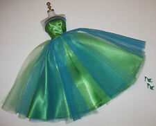 Vintage Barbie Senior Prom Green & Blue Satin Tulle Gown #951 Complete 1965