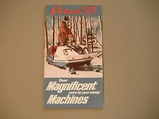 1972 Vintage Polaris Snowmobile Foldout Pocket Brochure