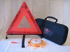 10 Pack of Emergency Warning Reflective Triangle Kit w/L.E.D Safety Beacon