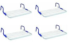 4 x Radiator Towel Clothes Folding 3m Airer Dryer Drying Rack 5 Rail Bar Holder