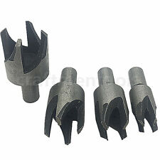4pcs Wood Plug Cutter Cutting Dowel Maker Making Drill Router Bit Set Four-Tooth