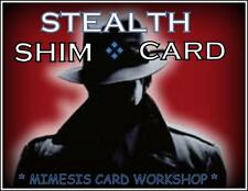The Gimmick STEALTH SHIM CARD by the Mimesis Card Workshop