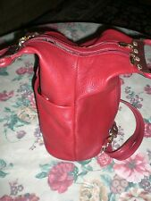 VALENTINA Backpack Pocketbook Red Leather Pell Lining Made in Italy