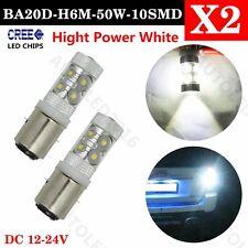 BA20D H6M 50W HIGH POWER CREE LED BULB XENON WHITE - MOTO ATV BIKE QUAD 395 X 2