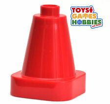*NEW* LEGO DUPLO Red Traffic Cone - Construction Quary Worker Street Vehicle