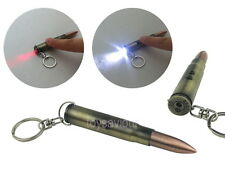 50 Barret Bullet Key Chain Ring with LED Light