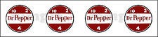 1 INCH DR. PEPPER  DECAL GUMBALL NUT VENDING MACHINE