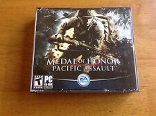 Medal Of Honor Pacific Assault PC CD-ROM 4discs EAGames 2004 for Windows 2000/XP