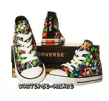 *BABY* Boy Girl CONVERSE All Star RUBIKS CUBE HI TOP Trainers Boots SIZE 18 UK 2