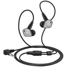 Silver/Black Sennheiser IE 80 Premium Audiophile Grade In-Ear Earbud Headphones