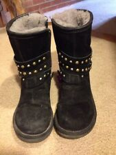 Women's UGG Clovis Black  Studded Boots  RARE!  Size 5 Some Salt  Condition
