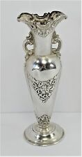 Single Rose Vase - Sterling Silver 4 7/8 tall - Unknown Maker R