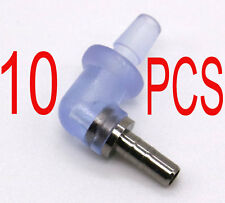 10 PCS REPLACEMENT Elbow L Connector Adapter FOR Acoustic Tube Earpiece