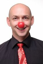 Karnevalsartikel Clownsnase rote Nase aus Plastik red nose day Clown VQ-044-red