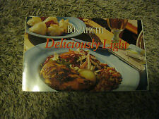 "Bon Appetit ""DELICIOUSLY LIGHT) Cookbook - FANTASTIC RECIPES & Good Eats"