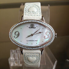 newstuffdaily: NIB JLo Jennifer Lopez Light Blue Oval Dial Crystal Ladies Watch