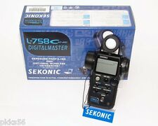 SEKONIC 758 CINE DIGITAL MASTER LIGHT METER + EXPOSURE PROFILE TARGET GRAY CARD!