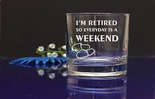 Personalised Retired engraved whiskey glass granddad's grandma's present gift36