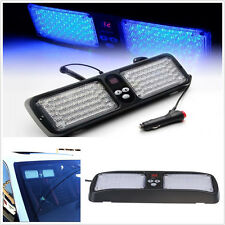 Blue 86LED 12 Flashing Modes Car Interior Sun Visor Windshield Strobe Light Lamp