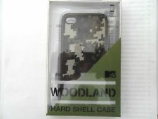 WOODLAND CAMOUFLAGE HARD SHELL CASE FOR iPHONE 4