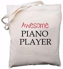 Awesome Piano Player - Natural Cotton Shoulder Bag - Gift
