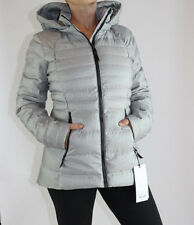 Lululemon Down For It Jacket size 10 White Silver NWT Gray Winter Coat w. Hood