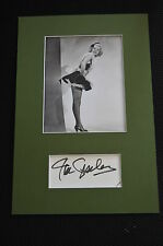 JAN STERLING sexy signed Autogramm In Person 20x30 cm Passepartout +2004 Orwell