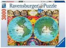 PUZZLE RAVENSBURGER 3000 Piezas MAPA ANTIGUO 17074 Antique Map PIECES JIGSAW