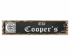 SP0670 The COOPER'S Family name Sign Bar Store Shop Cafe Home Chic Decor Gift