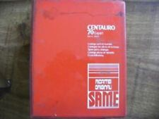 SAME TRACTOR CENTAURO 70 PARTS MANUAL