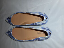 Michael Kors Arianna Flat Printed SHOES  6M 8M  NEW IN BOX BLUE sale sold sepera