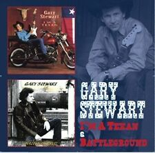 GARY STEWART - I'M A TEXAN & BATTLEGROUND 2CDs 2 Albums (New & Sealed) Country