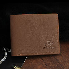 Real Swiss Mens Wallet Real Leather Bifold Trifold Hybrid Foldout ID Card Case