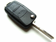 Skoda Octavia Fabia Superb 2 Button Flip Remote Key Fob Case - Blank HAA Blade