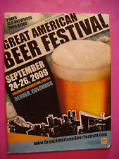 2009 GREAT AMERICAN BEER FESTIVAL Guide ~ Denver GABF Brewery Facts Fest Winners