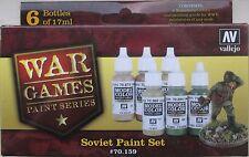 Vallejo WW2 Wargame Series Val70159 Soviet (Russian) Infantry 6 colour paint set