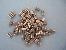 "25 Stainless Steel Sleeves for 1/16"" Cable, 7 mm x 4.6 mm x 3 mm"