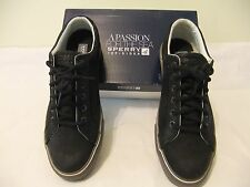 SPERRY TOP SIDER Striper LTT Black Leather Casual Lace Up Size 13 EU 47 NIB $95