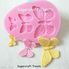 Butterfly Bufferflies Flower Silicone Mould, Sugarcraft, Cup Cake, Chocolate