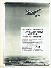 PUBLICITE ADVERTISING 026  1956  Pan Am  compagnie aérienne  USA
