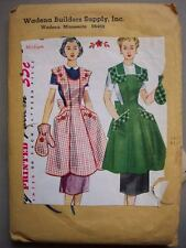 40's? 50's? bib apron large pockets  pattern 4902 size medium