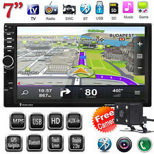 "Camera + 7"" HD 2 Din Touch Bluetooth GPS Navi Car MP5 Player iPod TV FM/USB/AUX"