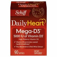 Schiff Mega-D3 Vitamin D3 5000 IU + Resveratrol & Red Wine Extract, 90 Count
