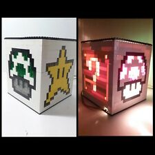 LEGO Nitendo Mario Brothers NES Lamp night light kids decor Gaming pixel art