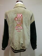 Rare Phat Farm Bomber Leather Jacket Sz 3XL