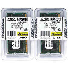 Atech 2GB Kit Lot 2x 1GB DDR Laptop PC2700 2700 333 333mhz 200-pin Memory Ram