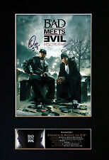BAD MEETS EVIL EMINEM Signed Mounted Autograph Photo Print (A4) No127
