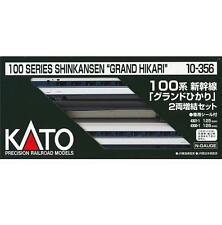Kato 10-356 Series100 Shinkansen Bullet Train Grand Hikari 2cars Add-On Set - N