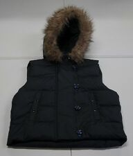 The GAP Womens M Black Polyester Down Filled Hooded Puffer Vest NWOTs